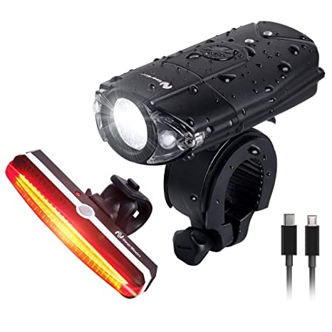 Waterproof USB Rechargeable LED Bicycle Bright Bike Front Headlight Lamp Set US