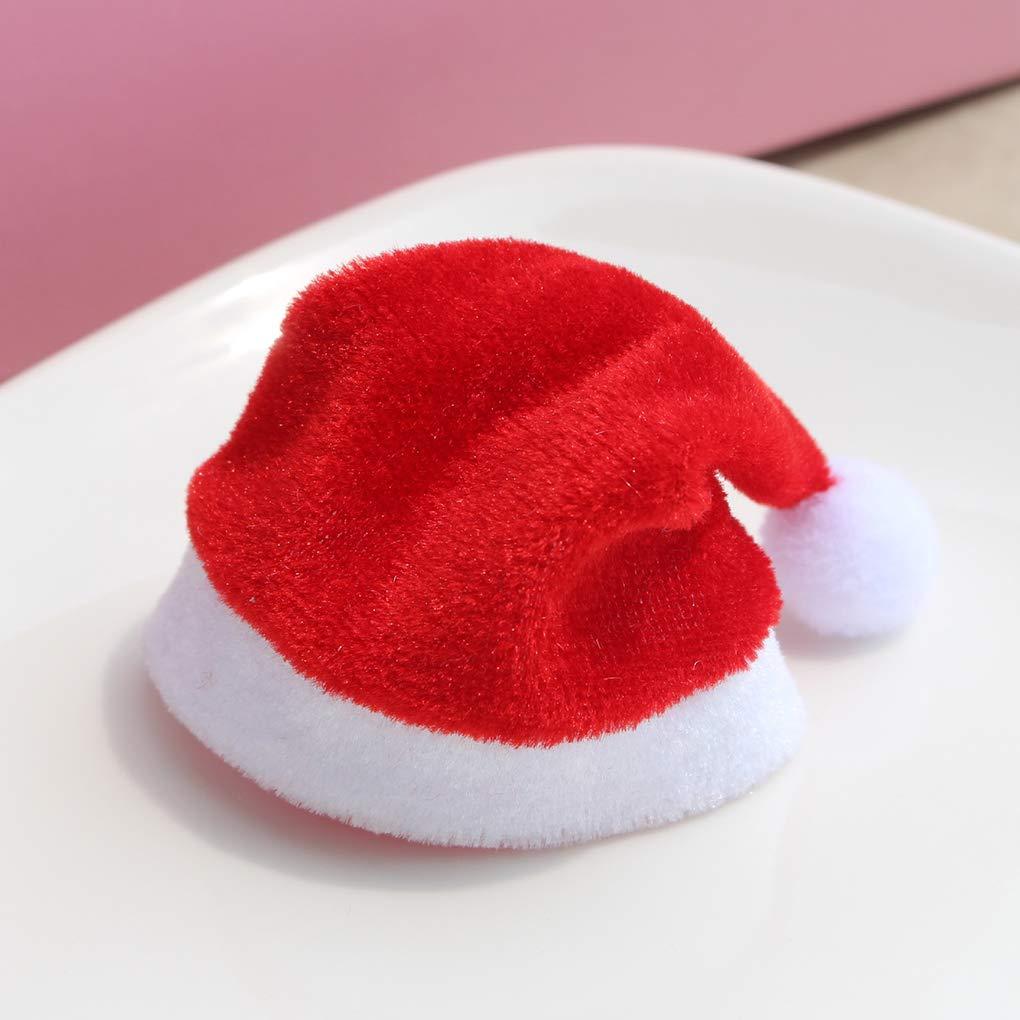 Ben-gi 10 pi/èces en Peluche Tissu d/écoratif Cap Mini Coupes Haut-parleurs Bluetooth Hat Beanie D/écorations de No/ël