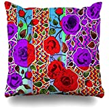 Starodet Throw Pillows Covers For Couch/Bed 18 x 18 inch,Mexican Garden Party Home Sofa Cushion Cover Pillowcase Gift Decorative Hidden Zipper Cotton And Polyester Summer Beach Sunlight