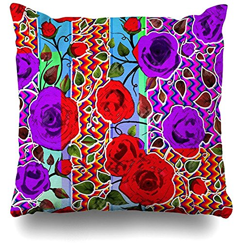 Starodet Throw Pillows Covers For Couch/Bed 18 x 18 inch,Mexican Garden Party Home Sofa Cushion Cover Pillowcase Gift Decorative Hidden Zipper Cotton And Polyester Summer Beach Sunlight by Starodet