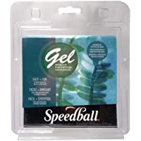"Speedball 12"" x 12"" Gel Printing Plate, Clear, 5"" x 5"""