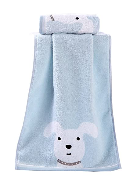Toalla de algodón Toallas de Microfibra Toallas de Playa Toallas de baño del Perro Azul Claro