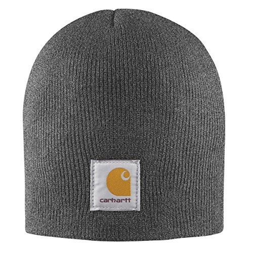 Carhartt Men's Acrylic Knit Hat, Coal Heather, One (Carhartt Winter Cap)
