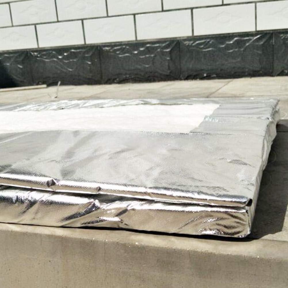 Aislamiento de chimeneas Manta de Fibra de cer/ámica de Aluminio Fuitna Manta ign/ífuga de algod/ón L/ámina de Aluminio Manta de Aguja de silicato