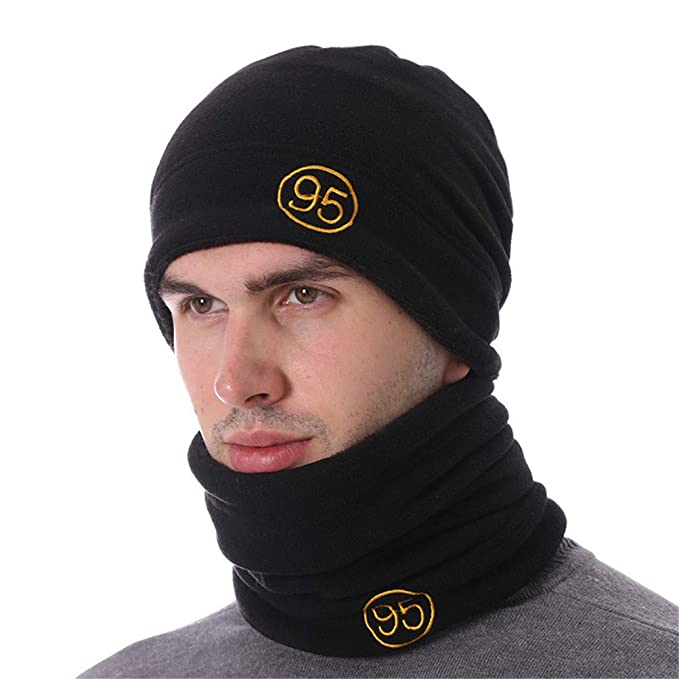 87479821af4 Image Unavailable. Image not available for. Color  Qianmome Skullies  Beanies Knitted Scarf Mask Male Balaclava Gorras Bonnet Caps for Men Women