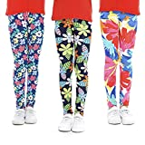 slaixiu Girls Leggings Stretchy Kids Pants Classic Printing Flower Pattern(AACCEE_70#)