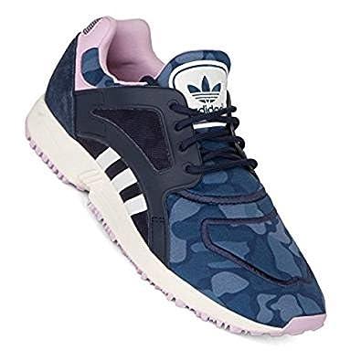 adidas Damen Sneaker, blau Blau Camouflage Größe: 36,5