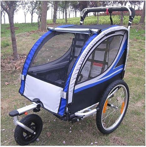 JXS Bicicleta de Remolque Cochecito - Marco de Aluminio Plegable ...