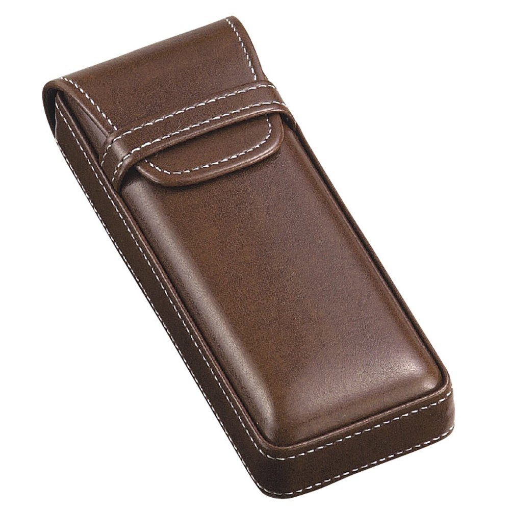 M-world Men's Gentleman's Leather-Tone Glasses Case,Stylish, Smart One Size Brown by M-world