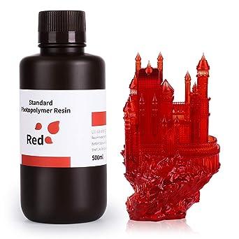 LONGER R/ésine photopolym/ère rapide standard pour imprimante 3D r/ésine 405nm pour imprimantes 3D s/érie Orange Peau, 500g