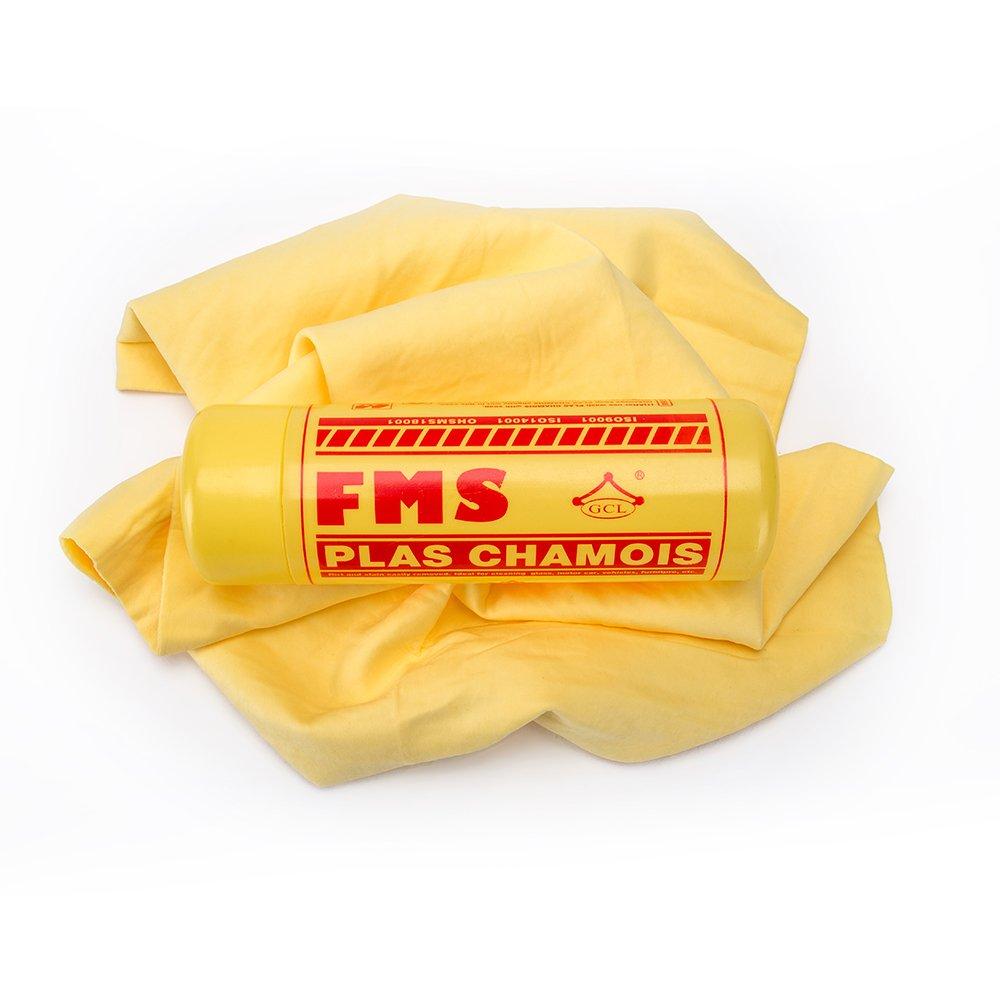 FMS Spessi Panno in Pelle di Daino Sintetica per Asciugatura Asciugamano Scamosciato Assorbente Morbido Grande 64x43cm -1 Pezzi FMS Chamois-1