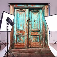 Mohoo Photo Background 5x7FT Silk Retro Door Wall Photography Backdrop for Photo Studio Props 1.5x2.1m