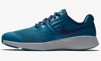 89e70de5d2b4 Nike Boy s Star Runner (GS) Running Shoe Blue Force Blackened Blue Green
