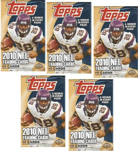 5 (Five) Packs of 2010 Topps Football Cards Hobby PACKS (5 Pack Lot - 10 (Topps Football Cards Hobby)