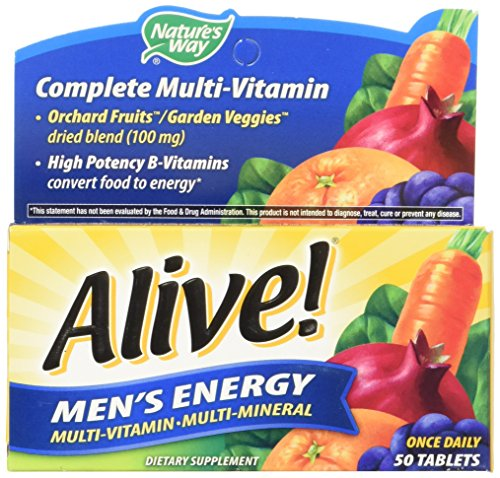 033674601945 - Nature's Way Alive! Men's Energy Tablets, 50 Count carousel main 3