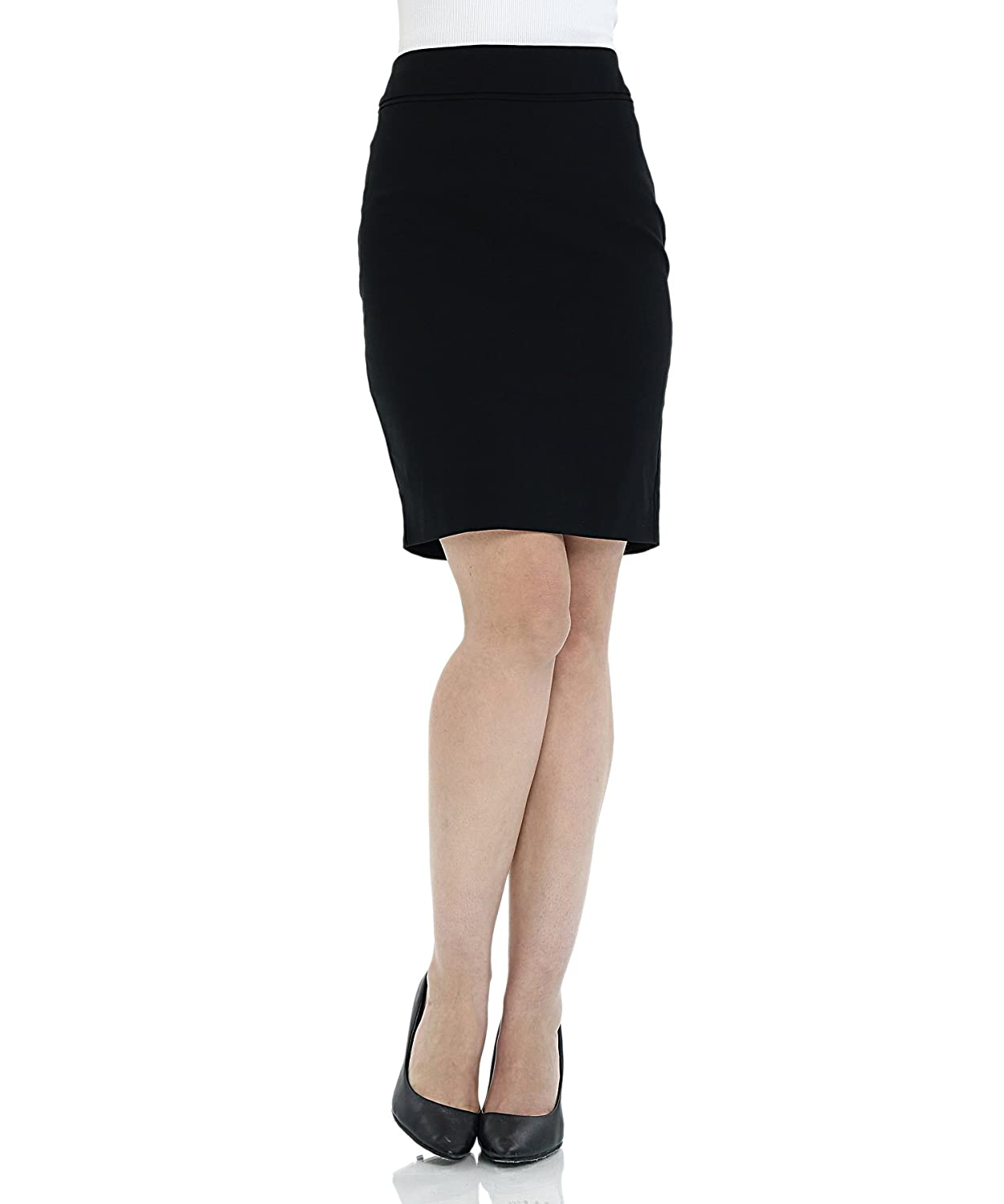 6e63e3f01 Style: This classic stretchy pencil skirt of fitted waist with an invisible  back zip for closure that hugs the hips for flattering look, which makes  you to ...
