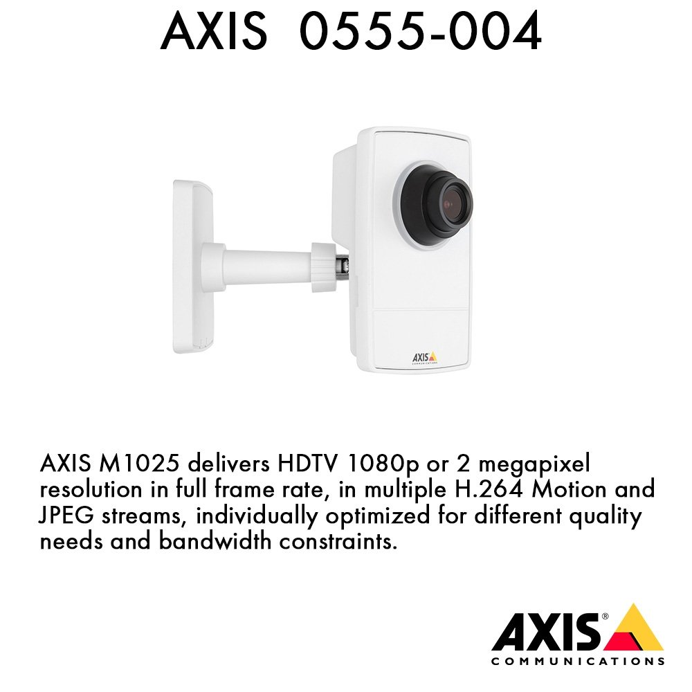 Axis Communications 0555-004 M1025 Network surveillance Camera, White by Axis Communications