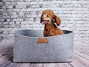 Amazon.com : JPTACTICAL Felt Wool Pet Bed   Solid Color