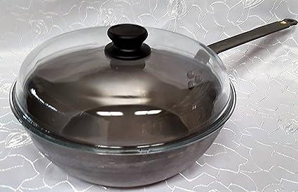 De Buyer Mineral B Element - Sartén de hierro 28 Cera de abejas Sartén con tapa