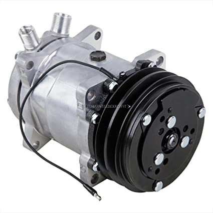 AC Compressor & A/C Clutch Replaces Sanden SD508 SD5H14 4509 4510 2-Groove  - BuyAutoParts 60-01769NA New