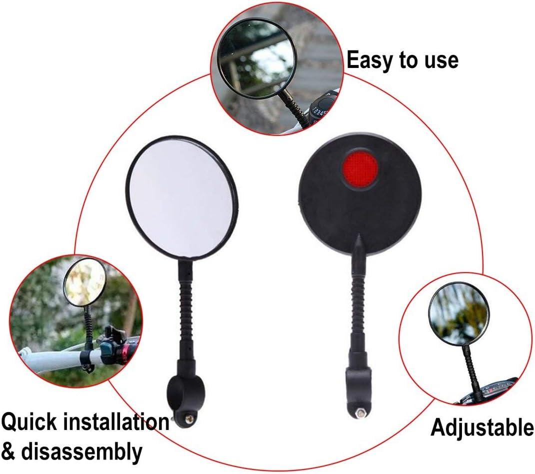 Accesorios para Montar en Bicicleta de monta/ña Espejo retrovisor Candybarbar Espejo retrovisor Ajustable para Bicicleta