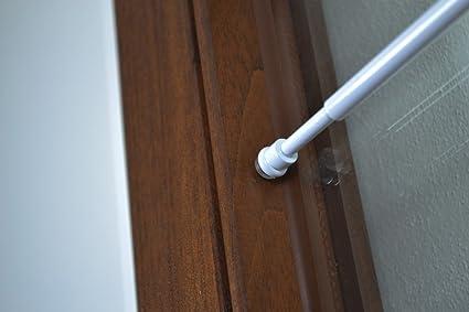 Bastoni Per Tende Con Ventose.Bastone Per Tenda In Alluminio Con Molla E Ventosa Laccato Bianco