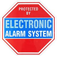 Reflective Alarm System Security Warning Sign