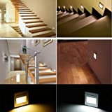 BOLXZHU 5-Pack LED Recessed Stair Light, LED Corner Wall Lamp 85-265V, Embedded LED Stairs Step Night Lighting for Hallway, Stairs, Closet, Bedroom