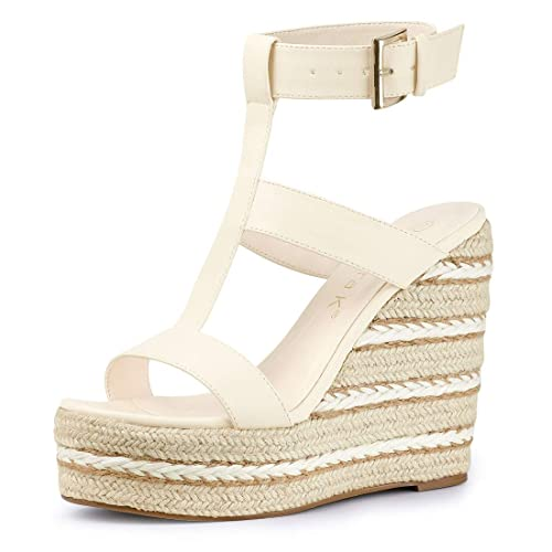 new release official site look for Allegra K Women's Espadrille Strappy Platform Wedges Sandals