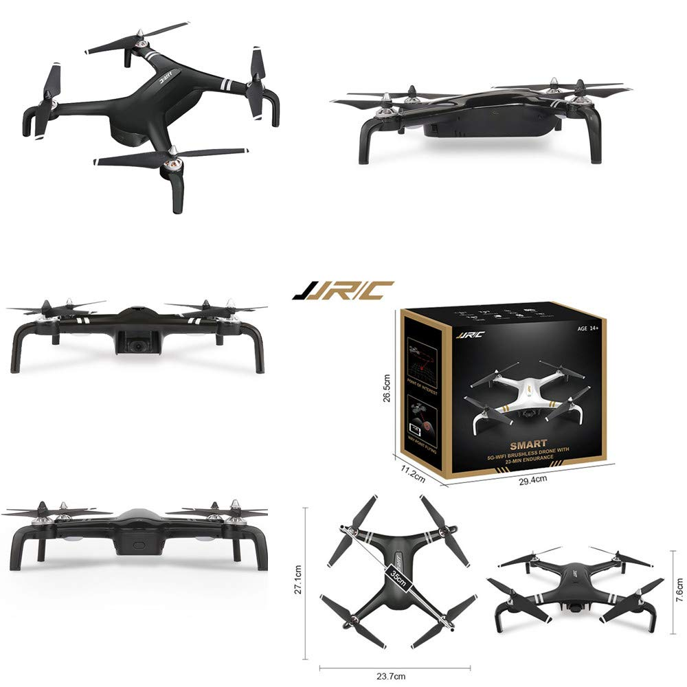 Cywulin RC Quadcopter Drone 1080P HD 5G WiFi FPV 120° Wide-Angle Camera Live Video, Brushless Motor, GPS Return Home, Follow Me, Long Control Range, Altitude Hold, Intelligent Modular Battery (Black) by Cywulin (Image #6)