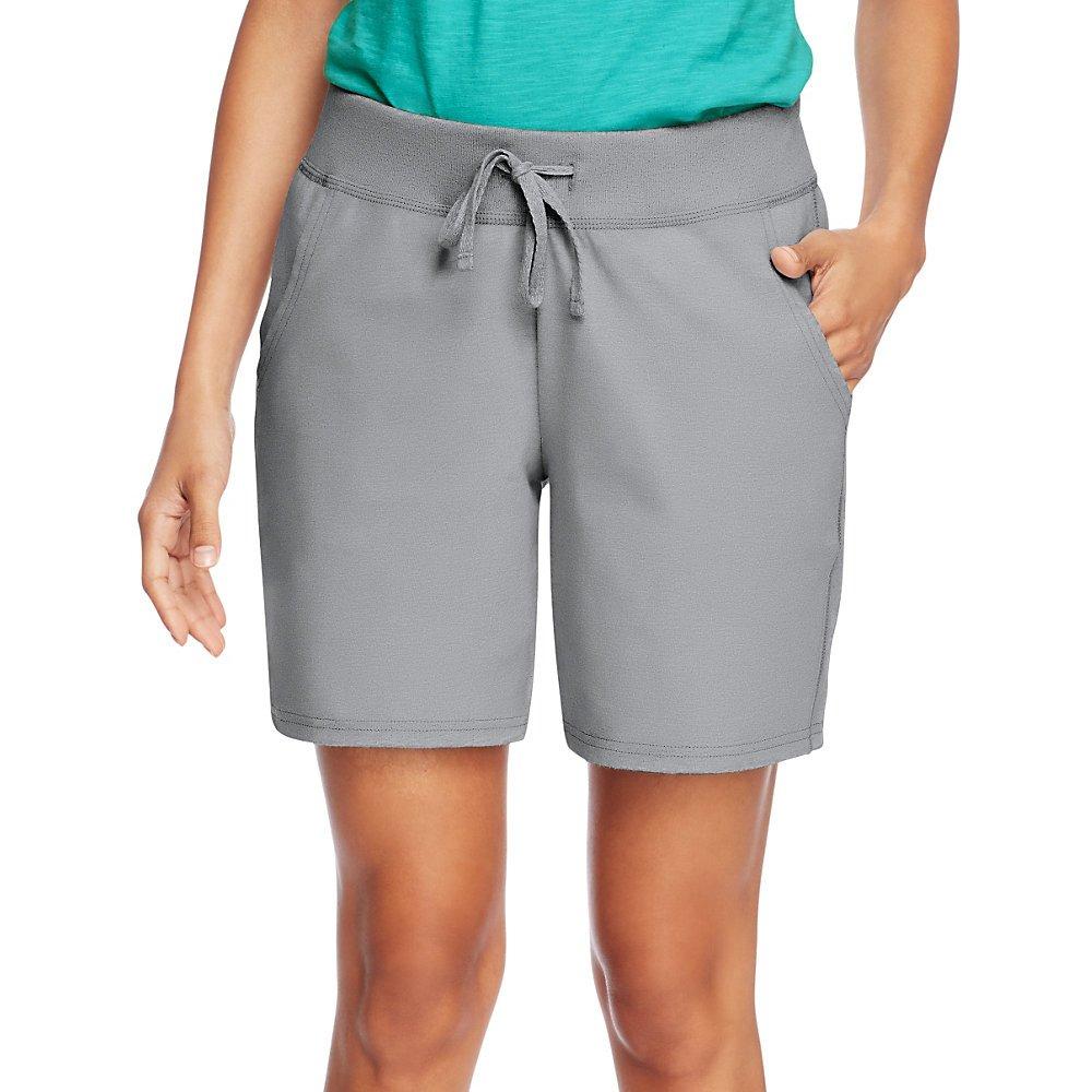 Hanes Womens Jersey Pocket Short O9264_Light Steel_M by Hanes (Image #1)