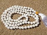 White agate gemstone japa mala beads 108 beads ~ meditation, prayer