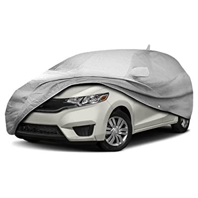 CarsCover Custom Fit 2009-2020 Honda Fit Hatchback Wagon Car Cover for 5 Layer Heavy Duty Waterproof Ultrashield: Automotive