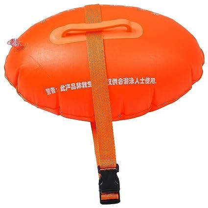 Amazon.com: Nadadores Natación PVC Naranja flotante Bolsa w ...