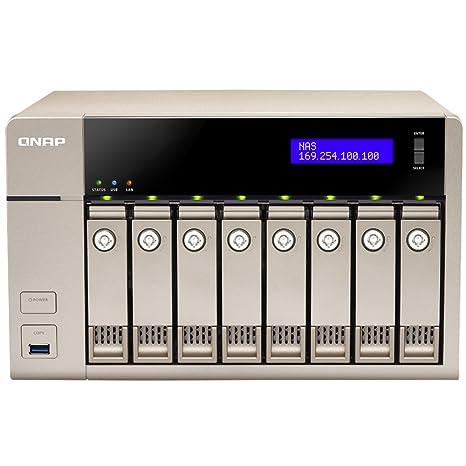 QNAP TVS-863+ Ethernet Torre Oro NAS - Unidad Raid (16 TB, Unidad ...