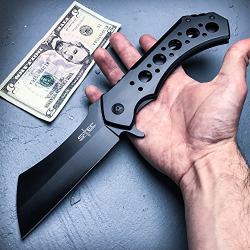 """S-Tec Giant 12"""" Folding Assisted Open Cleaver Pocket for sale  Delivered anywhere in USA"""