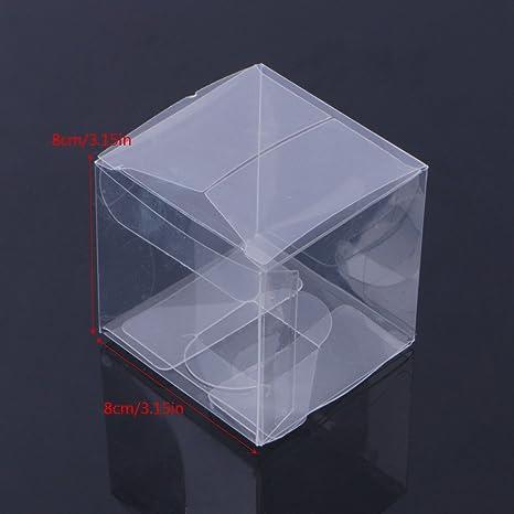 Xuniu 10 Piezas de Cubos Transparentes para Cajas de Regalos, Dulces Bolsas de Regalo de Dulces para Bodas, cumpleaños, Fiestas 5x5x5cm / 1.97x1.97x1.97: Amazon.es: Hogar