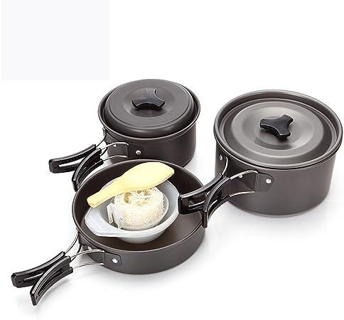 GDSZ Portable Outdoor Vajilla Camping Cookware Senderismo ...