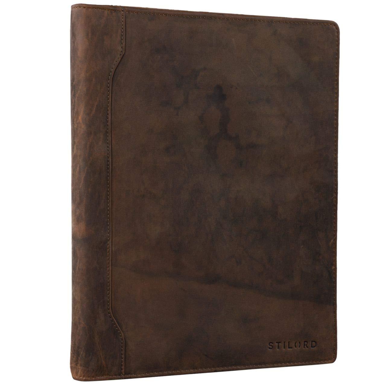 STILORD 'Arvid' Vintage Pochette à Documents Cuir Porte-Documents Portfolio Agenda d'affaires A4 13,3 Pouces Business, Couleur:Kara - Cognac