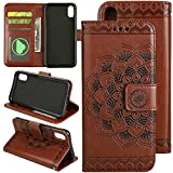 5.8inch iPhone X (10) Retro Brown Wallet Cell Phone
