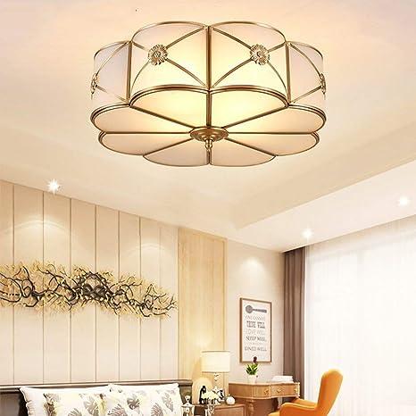 XFZ Moderno LED Lámparas de Techo Foyer Copper lamparas de ...