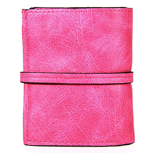Bag Korean Student Rose Red Matted Card Powlance red bit Clutch Purse Multi Retro UHnEdT