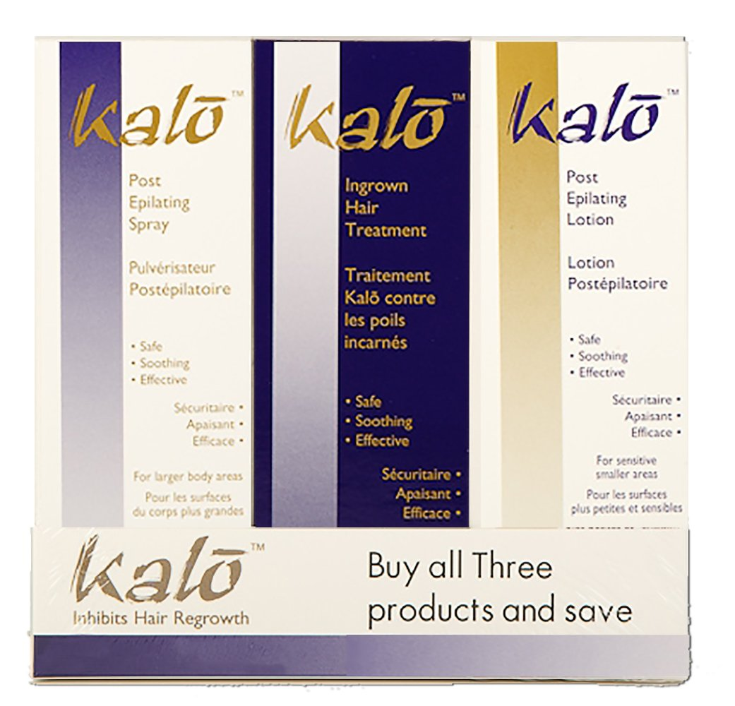 NISIM Kalo 3Pk - Post Epilating Spray, Lotion And Ingrown Hair Treatment- Permanent Hair Removal, 300 Milliliters