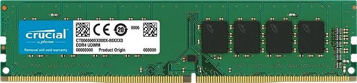 Crucial 8GB Single DDR4 2400 MT/s (PC4-19200) SR x8 DIMM 288-Pin Memory - CT8G4DFS824A