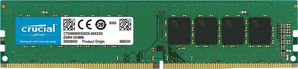 Crucial 4GB Single DDR4 2133 MT/s (PC4-17000) CL15 SR x8 Unbuffered DIMM 288-Pin Desktop Memory CT4G4DFS8213