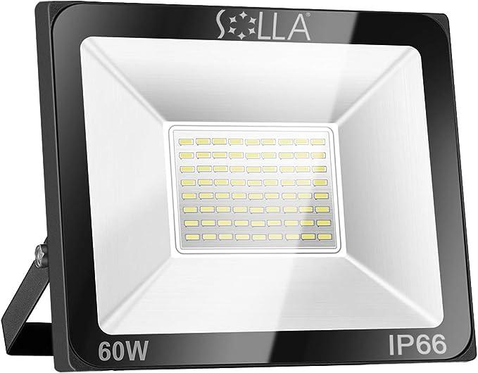 Foco LED 60W IP66 Luz de Seguridad Exterior Impermeable, 4800LM, Blanco Cálido 3000K, Foco Exterior de Pared para Patio, Garaje, Almacén, Parking, Jardín, Carreteras, Calles, Plazas, etc.: Amazon.es: Iluminación