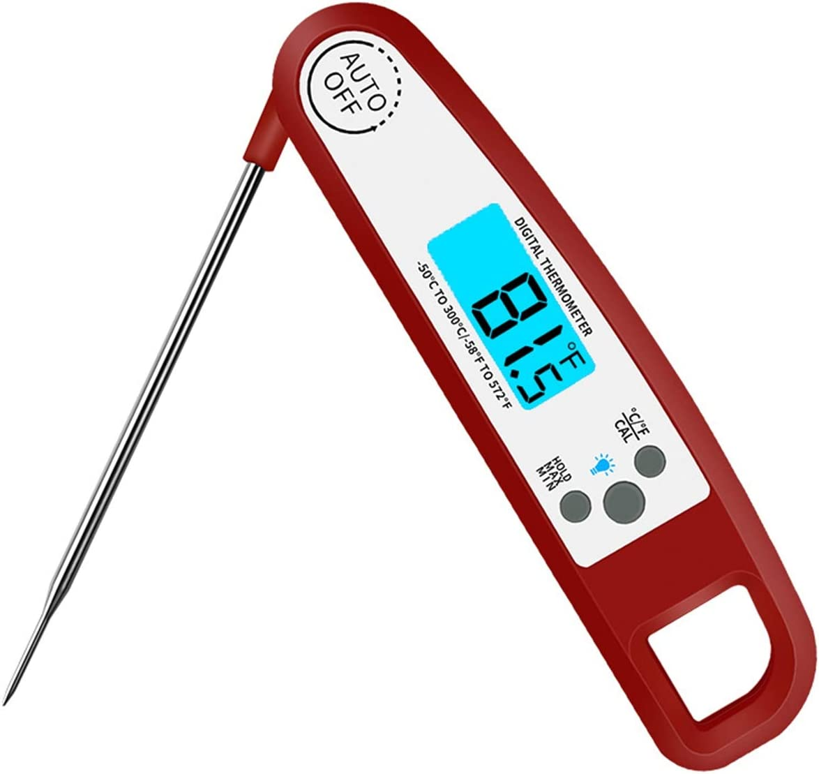 Instant Read Digital Food Thermometer with Bright Backlight LCD Screen, Kitchen Smart Waterproof Cooking Meat Thermometer By Muzmate