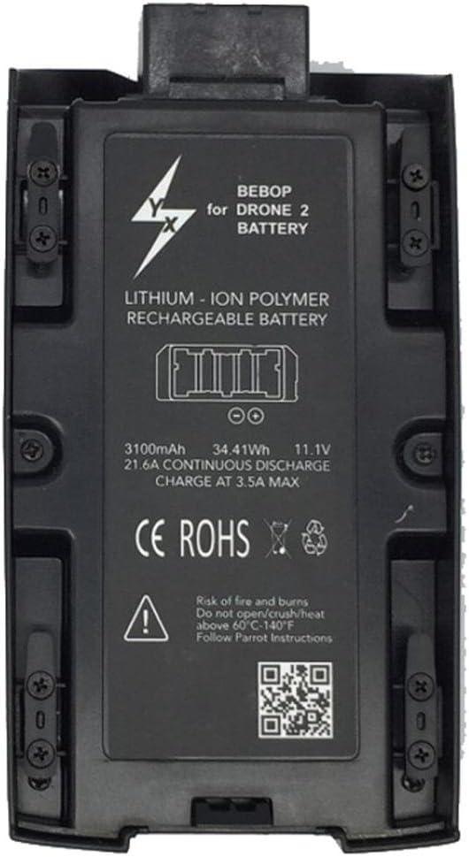 Momola Batterie LiPo Rechargeable Haute Capacit/é 3100mAh 11.1 v Pour Parrot Bebop 2 Drone 2 Packs
