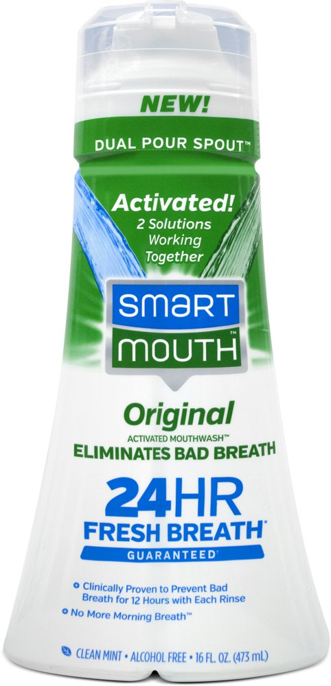 SmartMouth Original Mouthwash, Mint, 16 Fluid Ounce (Pack of 9) by SmartMouth (Image #1)