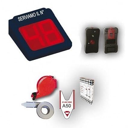 Printex sistema eliminacode electrónico – Pantalla a 2 dígitos LED rojo para gestión Code + radiocomando